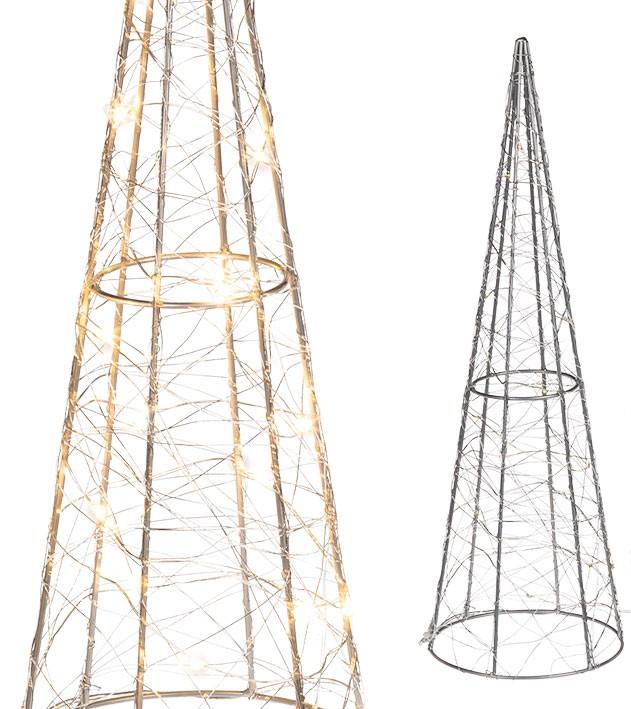 Metal kegle med LED lys