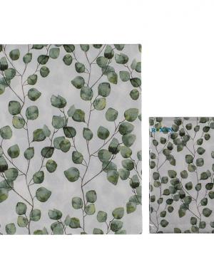 Servietter med grønne blade