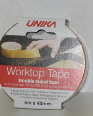 WORKTOP TAPE PVC 40MM X 5 METER DOBBELTKLÆBENDE