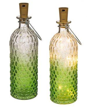 Flaske med LED grøn