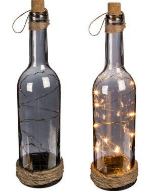 Glasflaske med lys
