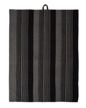 Plint - Viskestykke sort stribet