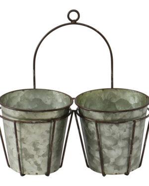Dobbelt skjuler i jern og zink som både kan stå og hænge