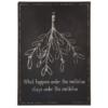 Ib Laursen - Metalskilt - What happens under the mistletoe