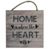 Træskilt med tekst - Home is where your heart is