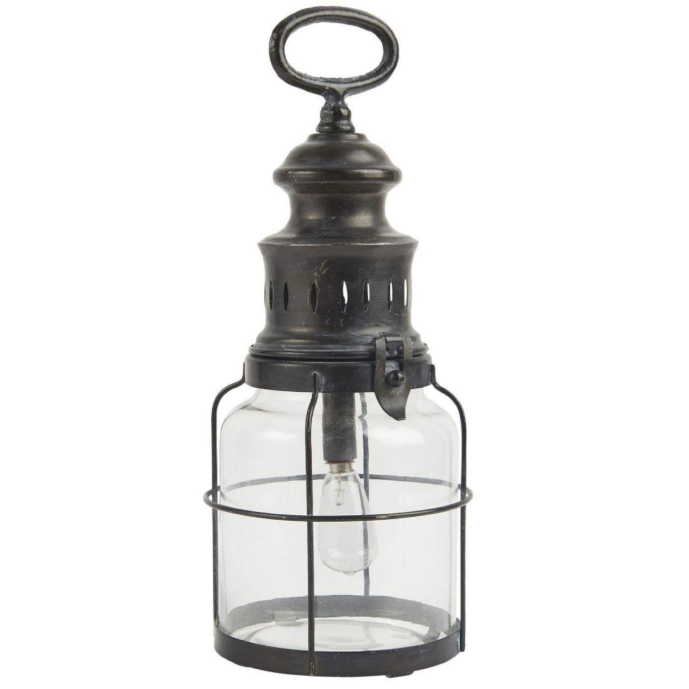 Ib Laursen - LED-lanterne med gitter om glasset