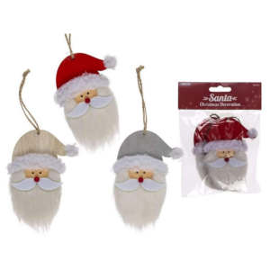 Julemænd med skæg 3 farver