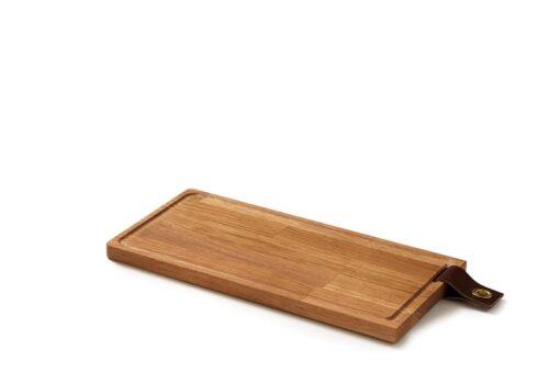 Denwood - Skærebræt med læderstrop Eg