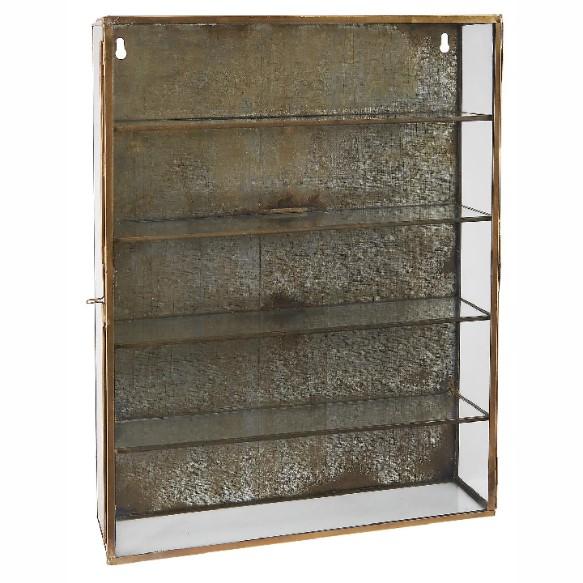 Ib Laursen - Vægskab med glassider og låge - 4 hylder