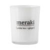 Meraki - Duftlys lille - White tea + ginger