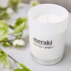 Meraki - Duftlys stor - White tea + ginger 2