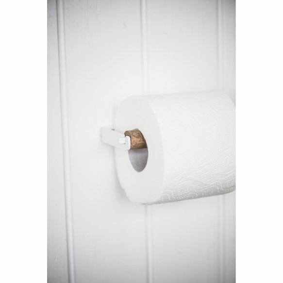 Ib Laursen - Toiletpapirholder med trærulle - Hvid 2