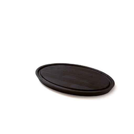 Denwood - Skærebræt oval 43X30X3 cm - Sort bejds
