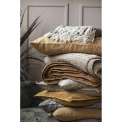 Ib Laursen - Plaid - Mørkebrun-creme mønster 8