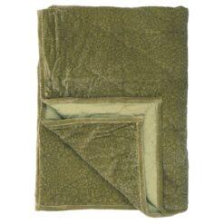 Ib Laursen - Quilt - Velour-grøn med print