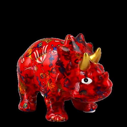 Triceratops Winston - Rød - Pomme Pidou