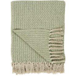 Plaid - creme grønt mønster - Ib Laursen
