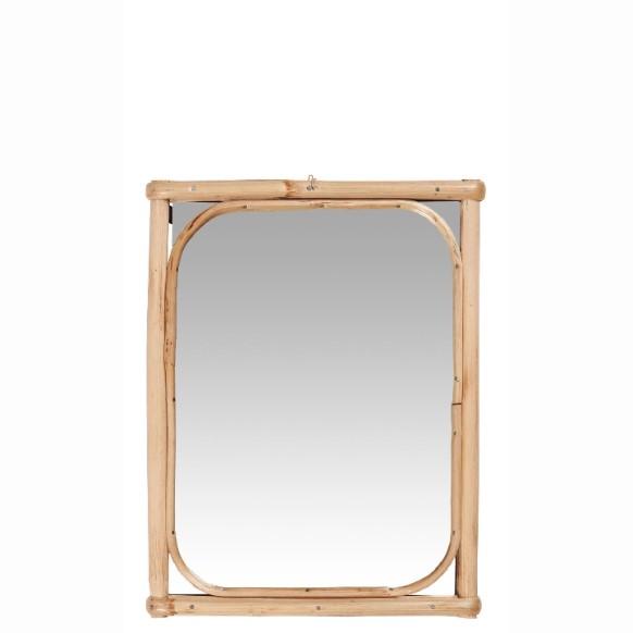 Spejl med bambuskant - Ib Laursen
